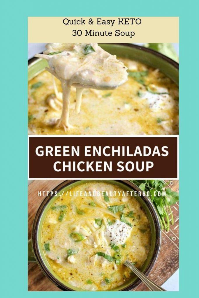 Green Enchilada Chicken Soup