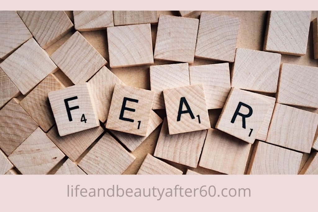 """Rich text showing scrabble tiles creating the word """"FEAR"""""""